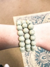 Wood & Metal Stackable Bracelet Gray