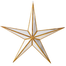 "Raz 15"" Mirrored Star Ornament"
