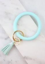 Caroline Hill Aqua Silicone Bangle Keychain