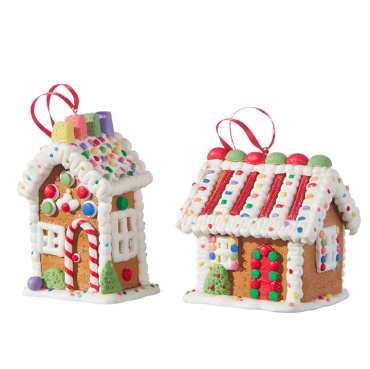 "Raz 4.45"" Candy Gingerbread House Ornament"