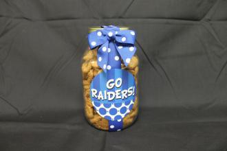 Go Raiders Quart Jar