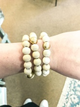 Wood & Metal Stackable Bracelet