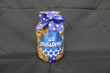 Go Crusaders Quart Jar