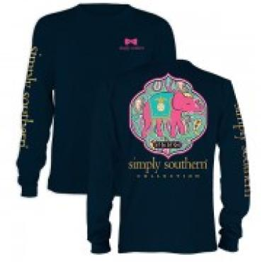 Simply Southern Let God Navy