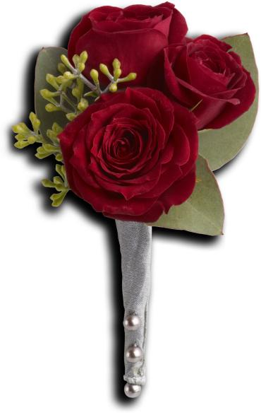 King\'s Red Rose Boutonniere