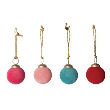 "Creative Co Op 2"" Round Flocked Glass Ball Ornament"