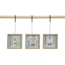 "Creative Co Op 4"" Square Framed Box Ornament"