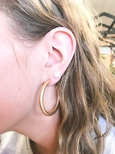 Gold Hoop Earrings Small
