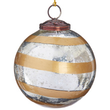 "Raz 5"" Striped Ornament"